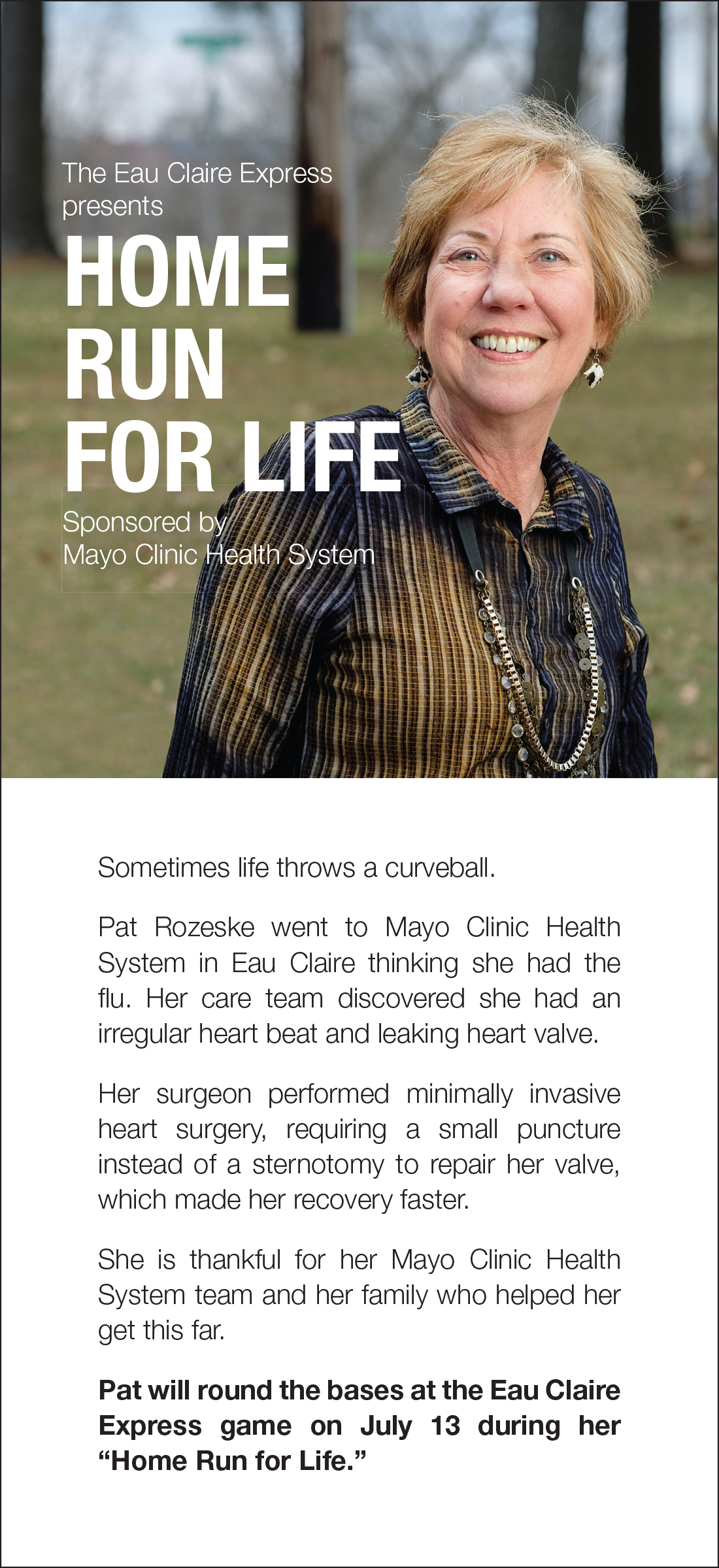 Home Run for Life | Presented by Mayo Clinic Health System - Eau