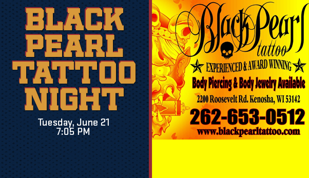 Black pearl tattoo night on june 21st kenosha kingfish for Tattoo shops hiring front desk