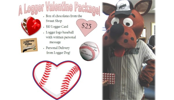 Valentines Day with Logger Dog