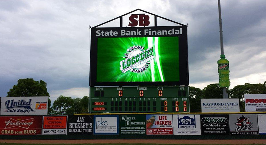 Image result for la crosse loggers video board
