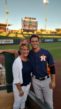 Chris Cotton and his Chinook Host Mom, Linda Walter