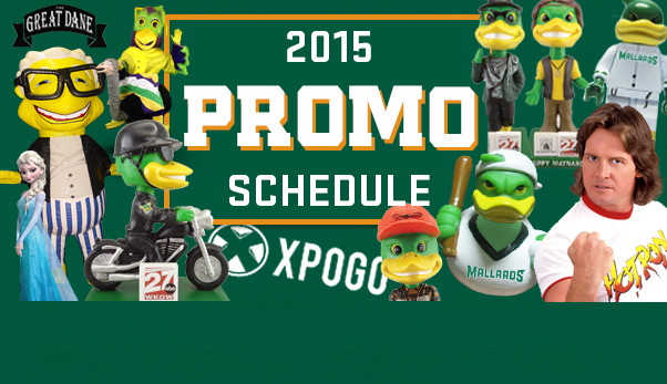 2015 Promotional Schedule