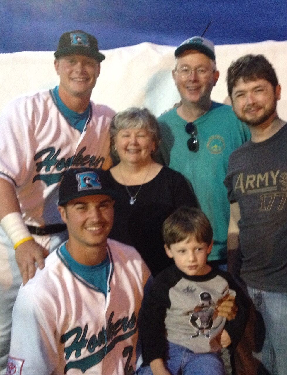 Ballweg Family with Players_Grandson