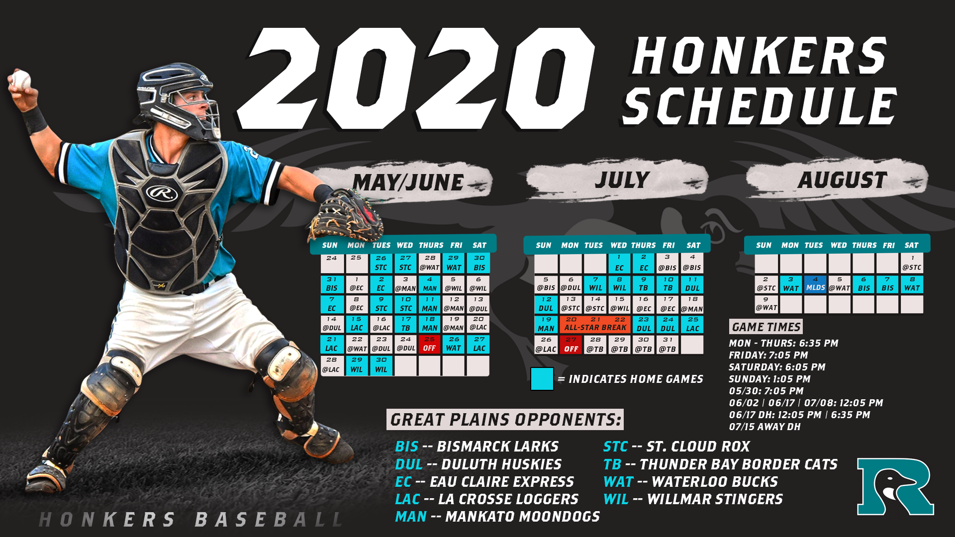 Pc Baseball Games 2020.2020 Complete Schedule Rochester Honkers Rochester Honkers