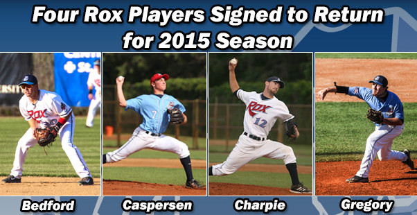 Four Rox Players Signed to Return for 2015 Season