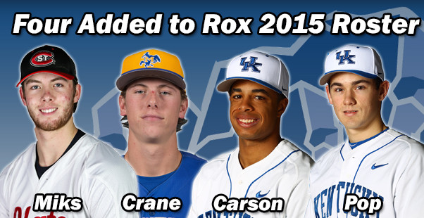 Four Added to Rox 2015 Roster