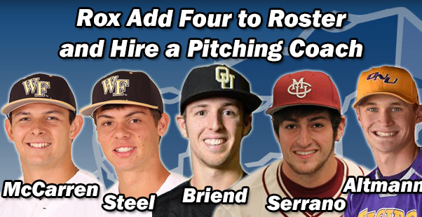 Rox Add Four to Roster and Hire Pitching Coach