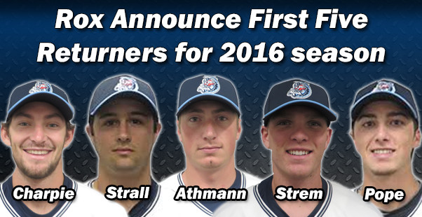 Rox Announce First Five Returners for the 2016 Season