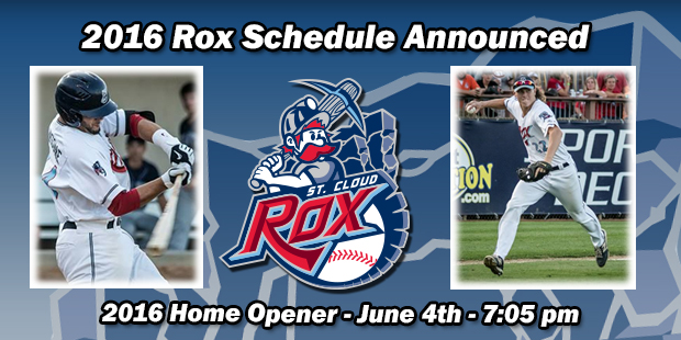 2016 Rox Schedule Announced