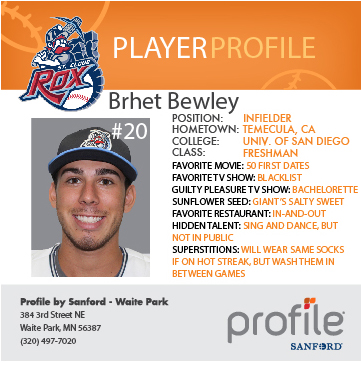 Rox Player Profiles Presented by Profile by Sanford - St