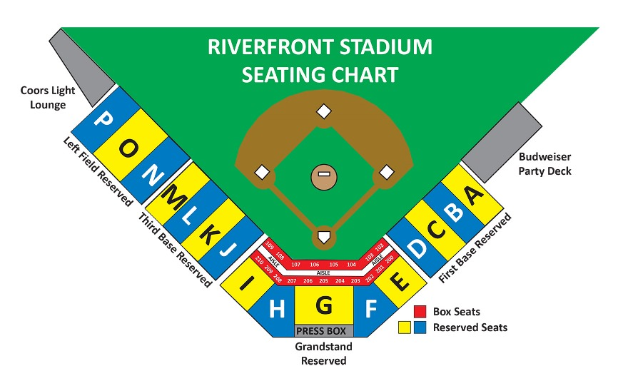 Increases The E For Each Seat From 18 To 24 Per This Will Make A Comfortable Night At Ballpark See New Seating Chart Below