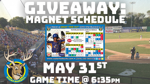 ec573a050 May 31 - Magnet Schedule Giveaway vs. Rochester @ 6:35 pm - Waterloo ...