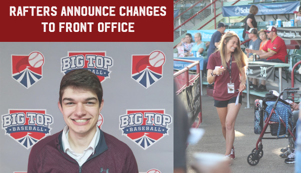 Rafters Announce Changes To Front Office
