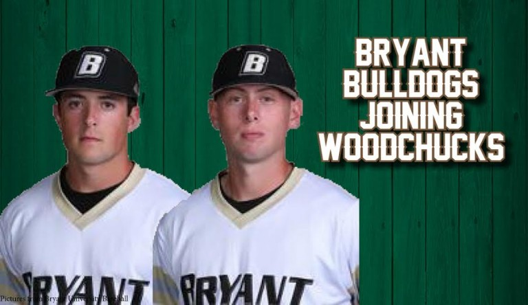 newest e870d 31c0f Woodchucks Sign Teammates from Bryant University ...